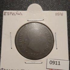 Monedas de España: 8 MARAVEDIS 1816 CECA DE JUBIA . Lote 191535030