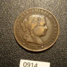 Monedas de España: 2 1/2 CÉNTIMOS DE ESCUDO 1868 , SEVILLA . Lote 191535376