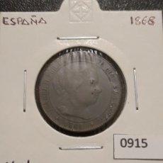 Monedas de España: 2 1/2 CÉNTIMOS DE ESCUDO 1868 , JUBIA. Lote 191535527