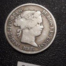 Monedas de España: 20 CÉNTIMOS DE PESO 1868, MANILA . Lote 191536225