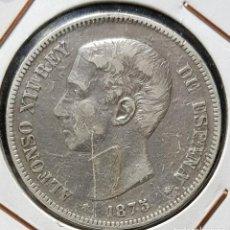 Monedas de España: 5 PESETAS 1875 *18 *75 DEM (PLATA 900) - ALFONSO XII. Lote 191655831
