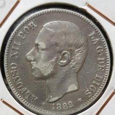 Monedas de España: 5 PESETAS 1882 *18 *82 MSM (PLATA 900) - ALFONSO XII. Lote 191656080