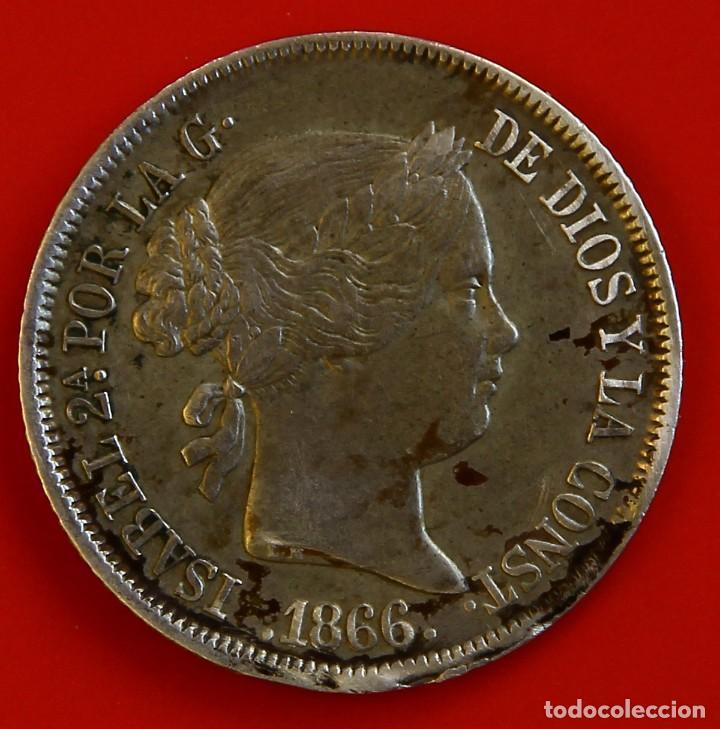 ISABEL II: 40 CTS DE ESCUDO DE 1866 DE MADRID. MBC (Numismática - España Modernas y Contemporáneas - De Isabel II (1.834) a Alfonso XIII (1.931))