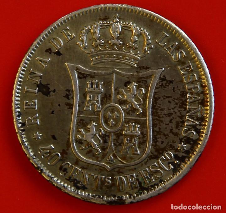 Monedas de España: Isabel II: 40 cts de Escudo de 1866 de Madrid. MBC - Foto 2 - 191787228