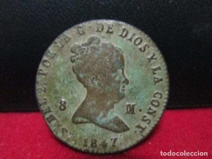 8 MARAVEDIS 1847 ISABEL II CECA SEGOVIA (Numismática - España Modernas y Contemporáneas - De Isabel II (1.834) a Alfonso XIII (1.931))