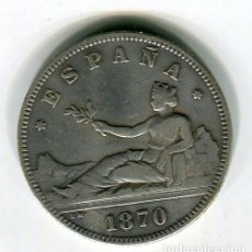 Monedas de España: 2 PESETAS GOBIERNO PROVISIONAL AÑO 1870 *18 *74. Lote 45975466