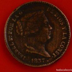 Monedas de España: ISABEL II: 10 CTS. DE REAL DE 1857 DE SEGOVIA, MBC. Lote 192273793