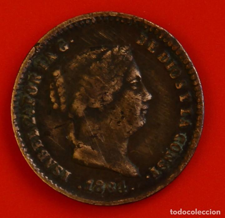 ISABEL II: 5 CTS. DE REAL DE 1864 DE SEGOVIA, MBC (Numismática - España Modernas y Contemporáneas - De Isabel II (1.834) a Alfonso XIII (1.931))