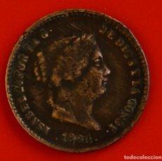 Monedas de España: ISABEL II: 5 CTS. DE REAL DE 1864 DE SEGOVIA, MBC. Lote 192274542
