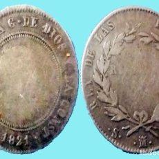 Monedas de España: MONEDA PLATA DE10 REALES , FERNANDO VII , 1821 MADRID , ORIGINAL, MBC- . Lote 192340365