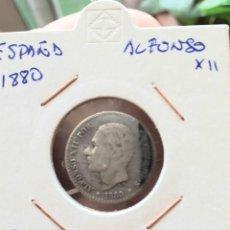 Monedas de España: ESPAÑA ALFONSO XII 50 CENTIMOS PLATA 1880. Lote 192352057