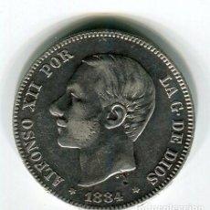 Monedas de España: 2 PESETAS ALFONSO XII MS M PLATA 1884 *18 *84. Lote 27460455