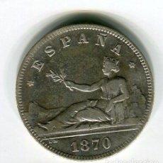 Monete da Spagna: DOS (2) PESETAS GOBIERNO PROVISIONAL AÑO 1870 *18 *74. Lote 55630947