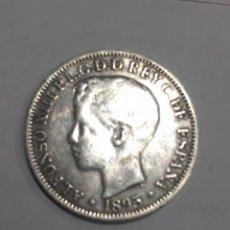 Monedas de España: RARISIMA ISLA PUERTO RICO 1895 ALFONSO XIII DE PLATA 1 PESO 5 PTAS. Lote 213134462