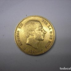 Monedas de España: 25 PESETAS DE ORO DE 1882 18-82. REY ALFONSO XII. MUY ESCASA. Lote 192874368