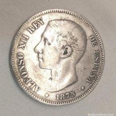 Monedas de España: MONEDA 5 PESETAS ALFONSO XII AÑO 1875 DE PLATA 24,50 GRAMOS. Lote 192892373