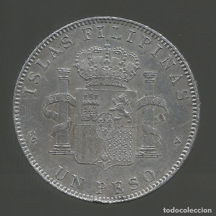 Monedas de España: España 1 peso islas filipinas año 1897 Original - Foto 4 - 204347926
