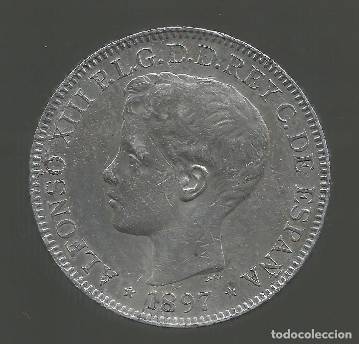 Monedas de España: España 1 peso islas filipinas año 1897 Original - Foto 5 - 204347926