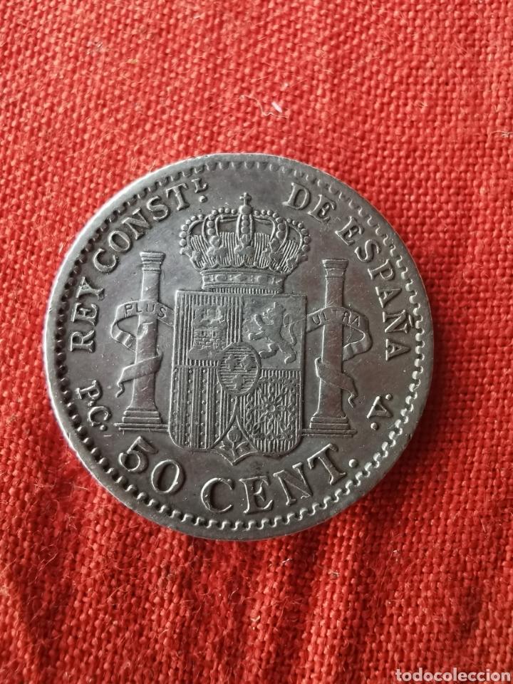Monedas de España: Moneda de plata 50 cm. Alfonso XIII. 1904 - Foto 2 - 193115466