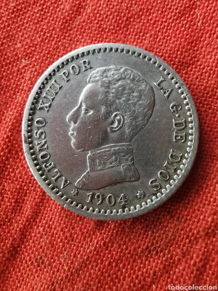 MONEDA DE PLATA 50 CM. ALFONSO XIII. 1904 (Numismática - España Modernas y Contemporáneas - De Isabel II (1.834) a Alfonso XIII (1.931))