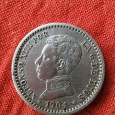 Monedas de España: MONEDA DE PLATA 50 CM. ALFONSO XIII. 1904. Lote 193115466