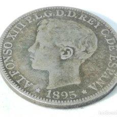 Monedas de España: RÉPLICA MONEDA 1895. PUERTO RICO, ESPAÑA. 1 PESO 5 PESETAS. ESPAÑA. REY ALFONSO XIII. Lote 193318371