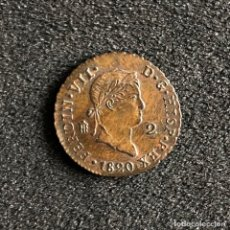 Monedas de España: 2 MARAVEDIS. FERNANDO VII. 1820, SEGOVIA.. Lote 194005677