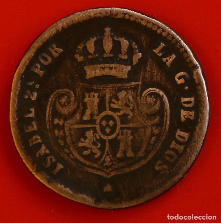 Monedas de España: Isabel II: Décima de Real de 1851 de Segovia, MBC- - Foto 2 - 194075215