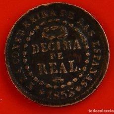 Monedas de España: ISABEL II: DÉCIMA. DE REAL DE 1853 DE SEGOVIA, MBC. Lote 194075615