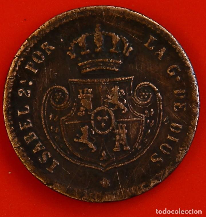 Monedas de España: Isabel II: Décima. de Real de 1853 de Segovia, MBC - Foto 2 - 194075615