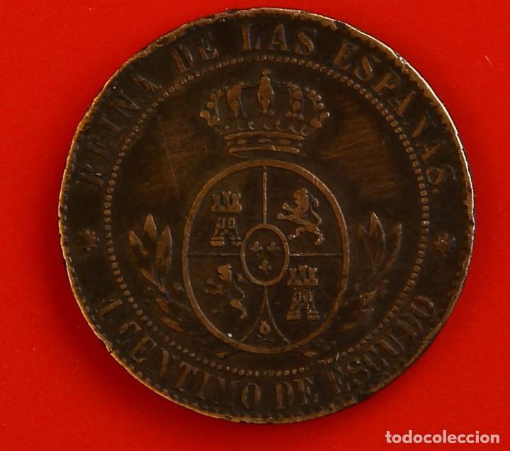 Monedas de España: Isabel II: 1 Cto. de Escudo de 1866 de Barcelona. MBC - Foto 2 - 194076263