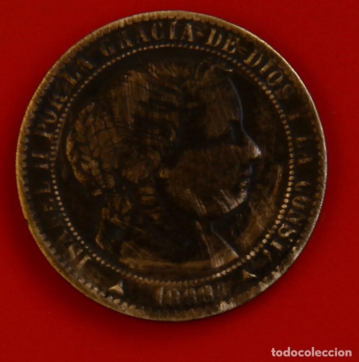ISABEL II: 1 CTO. DE ESCUDO DE 1868 DE SEGOVIA. MBC (Numismática - España Modernas y Contemporáneas - De Isabel II (1.834) a Alfonso XIII (1.931))