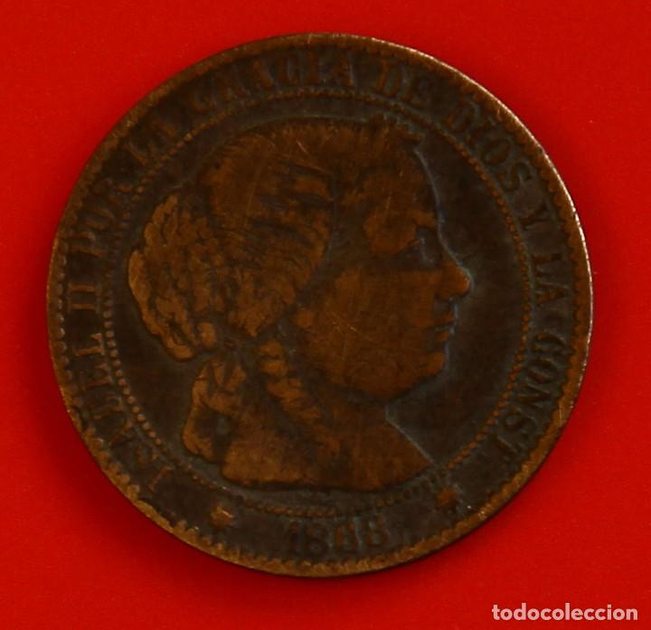 ISABEL II: CTO. DE ESCUDO DE 1868 DE BARCELONA. MBC (Numismática - España Modernas y Contemporáneas - De Isabel II (1.834) a Alfonso XIII (1.931))