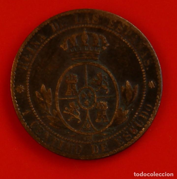 Monedas de España: Isabel II: Cto. de Escudo de 1868 de Barcelona. MBC - Foto 2 - 194077281