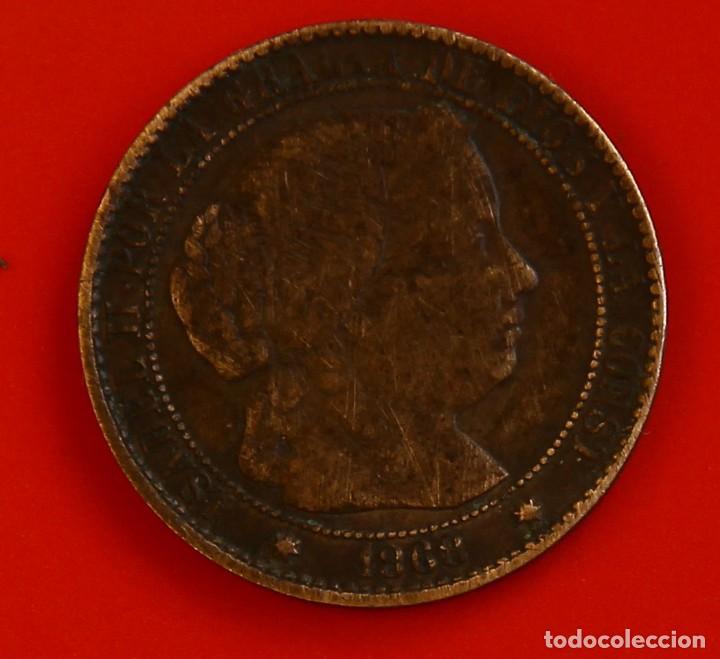 ISABEL II: 1 CTO. DE ESCUDO DE 1868 DE SEVILLA. MBC (Numismática - España Modernas y Contemporáneas - De Isabel II (1.834) a Alfonso XIII (1.931))