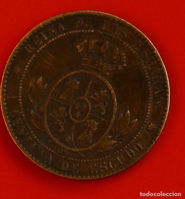 Monedas de España: Isabel II: 1 Cto. de Escudo de 1868 de Sevilla. MBC - Foto 2 - 194077458