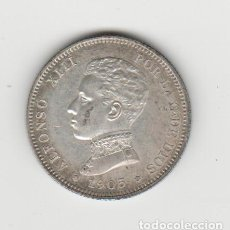 Monedas de España: ALFONSO XIII- 2 PESETAS- 1905*19-05-SMV. Lote 194153512