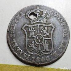 Monedas de España: 3 CUARTOS 1846.BARCELONA.ISABEL II. Lote 194221320