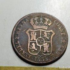 Monedas de España: 3 CUARTOS 1838..BARCELONA.ISABEL II. Lote 194221522