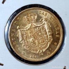 Monedas de España: ESPAÑA ESPAÑA 10 ESCUDOS-ORO ISABEL-II 1868 MADRID 18*73. Lote 194228563