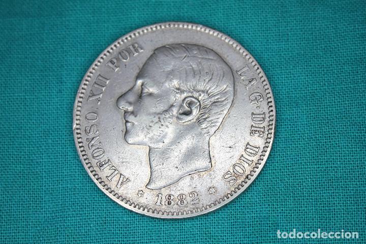 ESPAÑA 5 PESETAS ALFONSO XII 1882 ESTRELLAS 18-82 MS M 3098 (Numismática - España Modernas y Contemporáneas - De Isabel II (1.834) a Alfonso XIII (1.931))