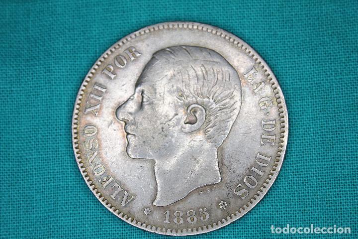 ESPAÑA 5 PESETAS ALFONSO XII 1885 ESTRELLAS 18-86 MS M 3101 (Numismática - España Modernas y Contemporáneas - De Isabel II (1.834) a Alfonso XIII (1.931))