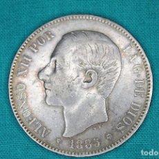 Monedas de España: ESPAÑA 5 PESETAS ALFONSO XII 1885 ESTRELLAS 18-86 MS M 3101. Lote 194240853