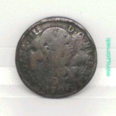 Monedas de España: MONEDA DE COBRE 4 MARAVEDÍS CARLOS IIII 1806. Lote 194241381