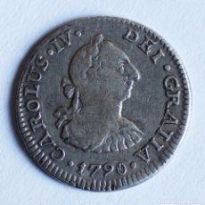 Monedas de España: RARO MEDIO 1/2 REAL CARLOS IV 1790 MEJICO FM. Lote 194241622