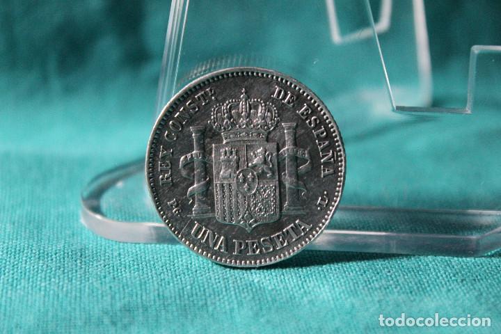 Monedas de España: España 1 Pesetas Alfonso XIII 1893 Estrellas 18-93 PG L RARA 3083 - Foto 2 - 194242026