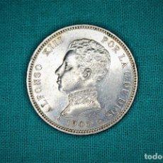 Monedas de España: ESPAÑA 2 PESETAS ALFONSO XIII 1905 ESTRELLAS 19-05 SM V 3084. Lote 194243398