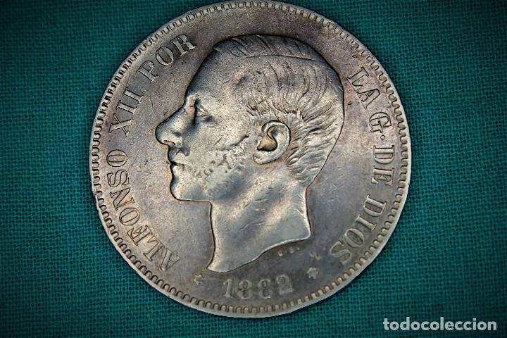 ESPAÑA 5 PESETAS ALFONSO XII 1882 ESTRELLAS 18-82 MS M 3097 (Numismática - España Modernas y Contemporáneas - De Isabel II (1.834) a Alfonso XIII (1.931))