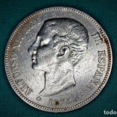 Monedas de España: ESPAÑA 5 PESETAS ALFONSO XII VARIANTE OREJA RALLADA 1875 ESTRELLAS 18-75 DE M 3085. Lote 194244186