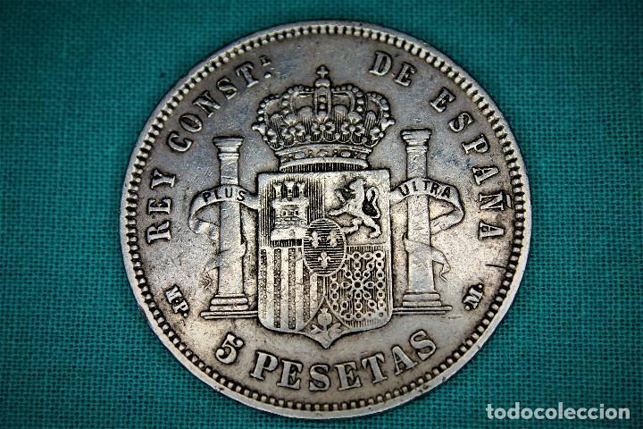 Monedas de España: España 5 Pesetas Alfonso XIII 1889 Estrellas 18-89 MP M 3089 - Foto 2 - 194244510